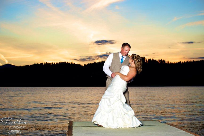 Lake Coeur du0027Alene Summer Wedding Autum