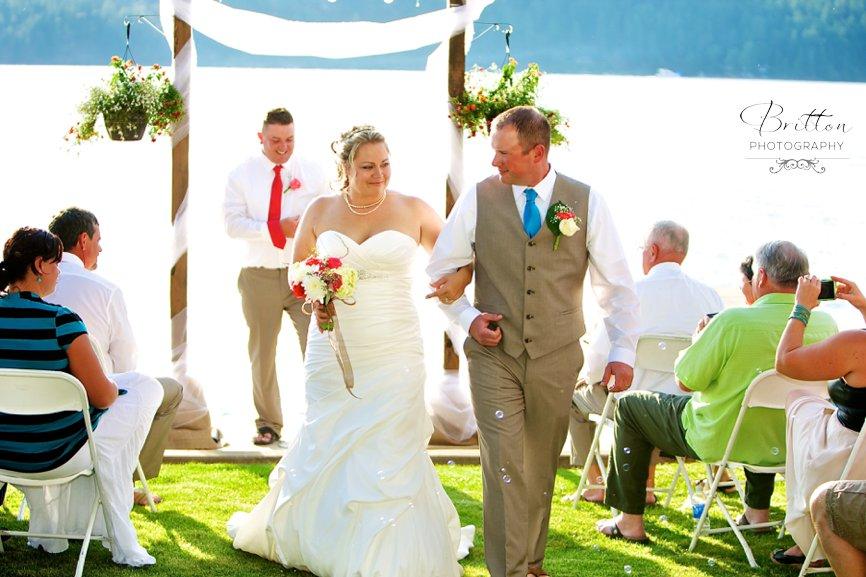 Lake Coeur D Alene Summer Wedding Autum Connor