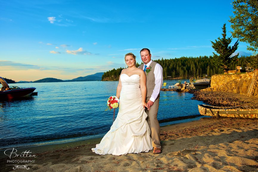 Lake Coeur D Alene Summer Wedding Autum Connor
